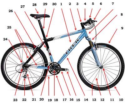 Классический велосипед состоит
